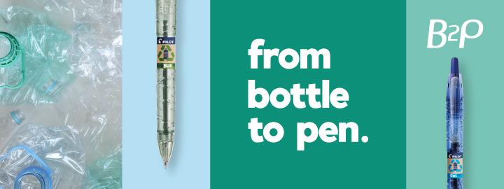 B2P Pilot, Bottle to pen range