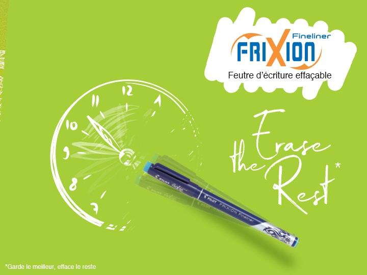 Feutre d'écriture effaçables : Pilot FriXion Fineliner