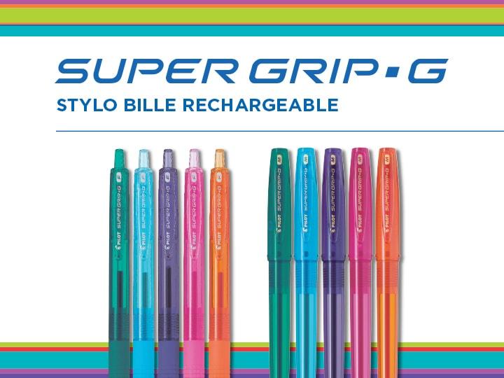 Super Grip G Neon Pilot stylo bille rechargeable