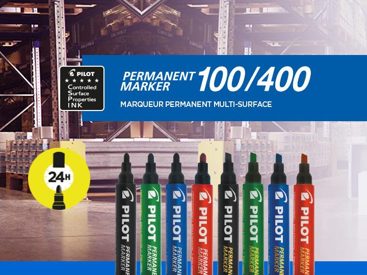 Marqueur multi-surface de Pilot : Permanent Marker 100, Permanent Marker 400