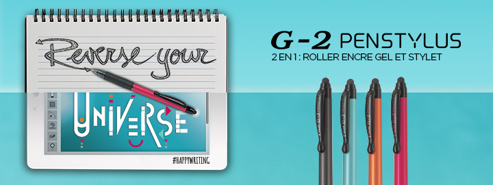 G-2 Penstylus : roller encore en gel stylet Pilot