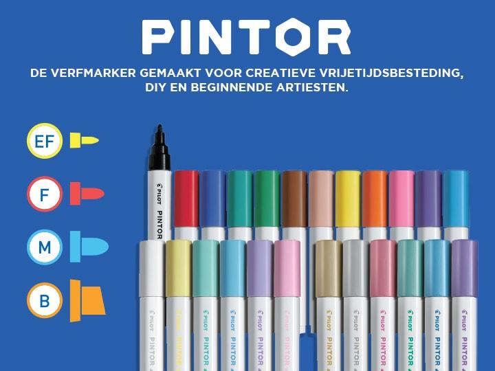 Verfmarker creatieve vrijetijdsbestedin Pilot Pintor