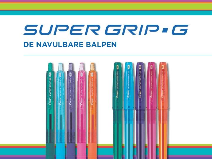 Super Grip G Neon Pilot De navulbare balpen