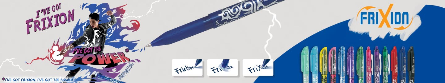 Pilot FriXion : the erasable pen range
