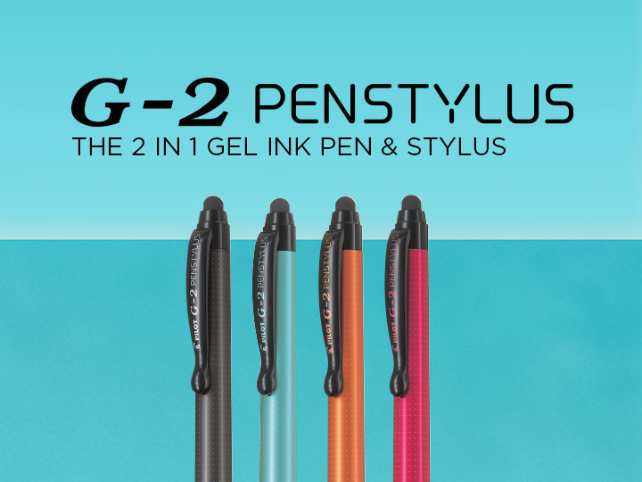 2 in 1 gel ink rollerball and stylus G-2 Penstylus Pilot