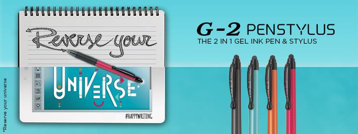 Pilot G-2 Penstylus - Gel ink rollerball with stylus