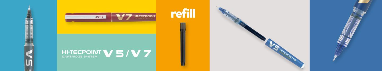 Liquid ink rollerball V5/V7 Refillable by Pilot