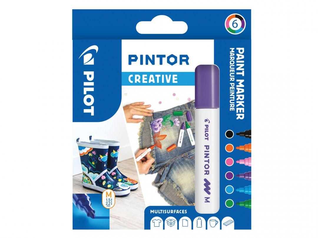 Pilot Pintor - Verpakking van 6 - Fun - Medium penpunt