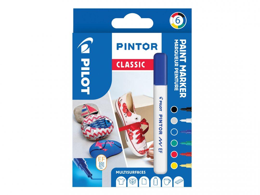 Pilot Pintor - Verpakking van 6 - Classic - Extra fijne penpunt