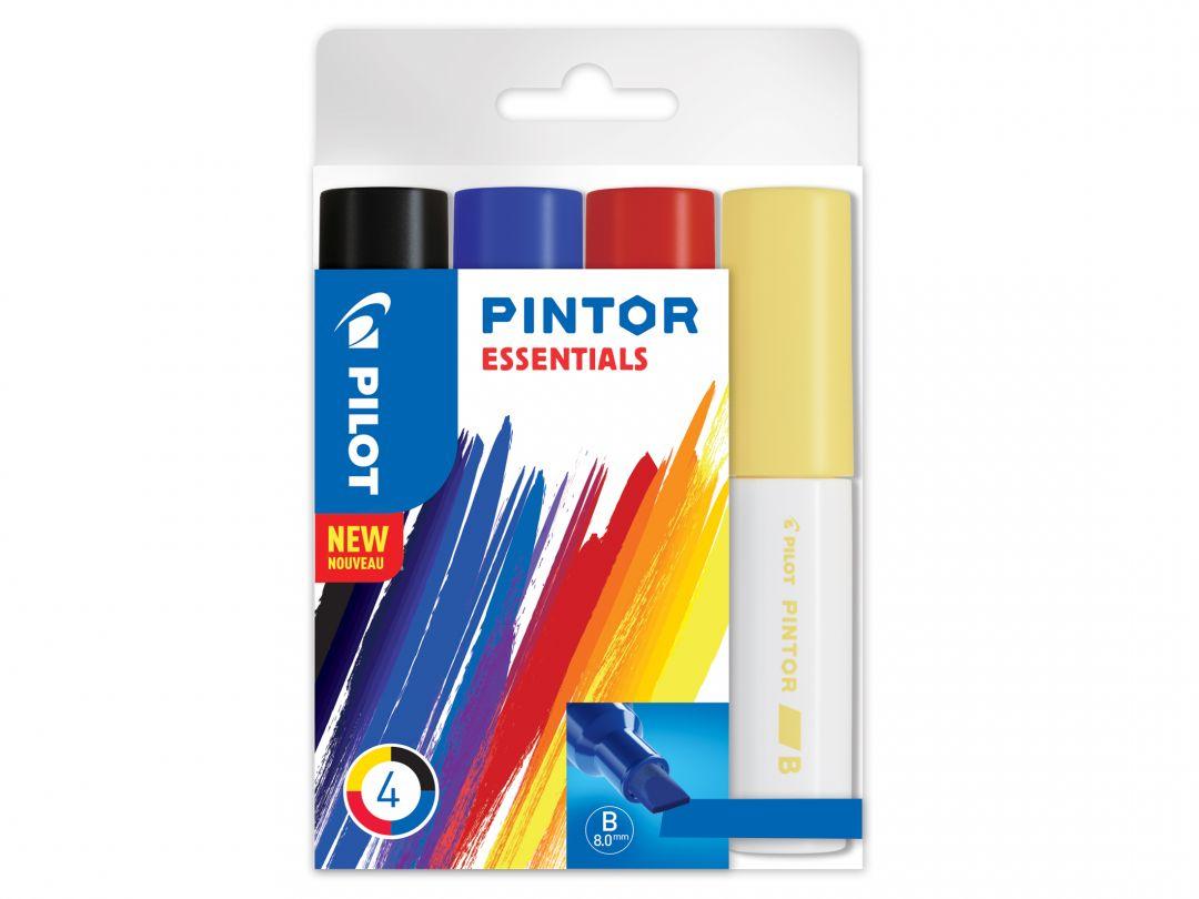 Pilot Pintor - Verpakking van 4 - Kleur assortiment - Brede penpunt