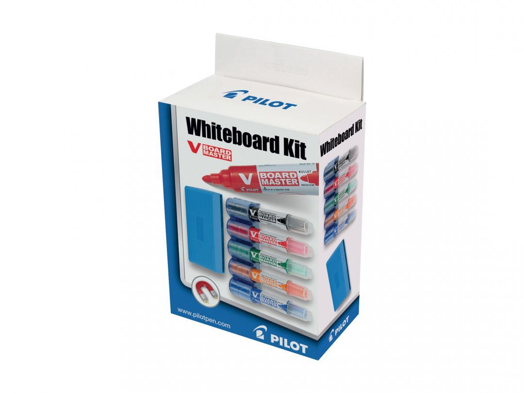 V-Board Master - Marker - Whiteboard Kit - Kleur assortiment - Medium penpunt