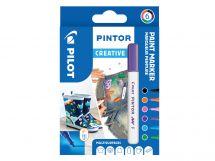 Pilot Pintor - Verpakking van 6 - Fun - Fijne penpunt