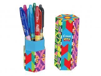 FriXion Ball - Gel Roller - Mika limited Edition pennenhouder - Kleur assortiment - Medium penpunt