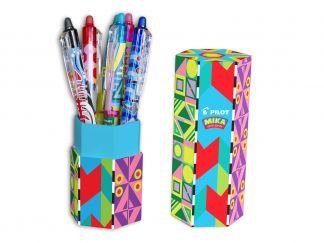 FriXion Ball Clicker 0.7 - Gel Roller - Mika limited Edition pennenhouder - Kleur assortiment - Medium penpunt