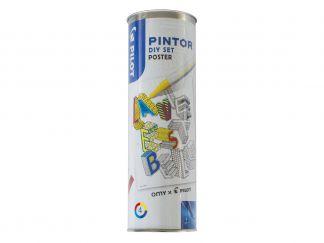 Pilot Pintor - Set DIY Poster - Kleur assortiment - Fijne penpunt