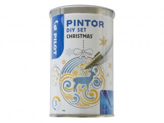Pilot Pintor - Set DIY Christmas - Kleur assortiment - Fijne penpunt