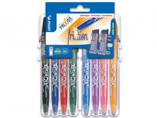 FriXion Ball - Set2Go par 8 - Noir, Bleu, Rouge, Vert, Bleu Ciel, Mauve, Rose Corail, Abricot - Pointe Moyenne