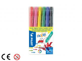 FriXion Colors - Set van 6 - Kleur assortiment - Medium penpunt