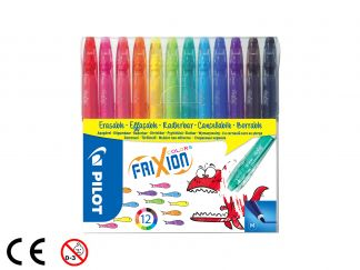 FriXion Colors - Set van 12 - Kleur assortiment - Medium penpunt