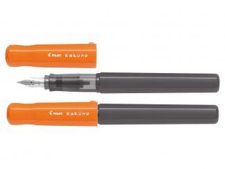 Kaküno - Vulpen - Oranje - Grijs - Begreen - Medium penpunt