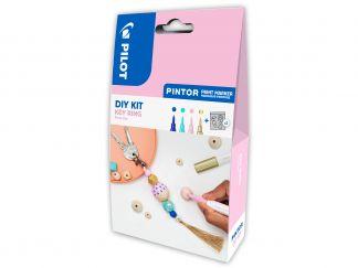 Pilot Pintor - DIY KIT - Sleutelring - Blauw, Pastel Groen, Pastel Roze, Goud - Extra fijne penpunt