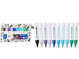 Pilot Pintor - Mijn kleurenset - set van 10 - Koude kleuren - Medium penpunt
