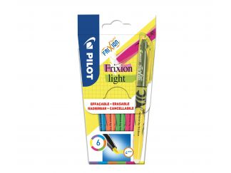 FriXion Light - Verpakking van 6 - Violet, Blauw, Oranje, Groen, Roze, Geel - Medium penpunt